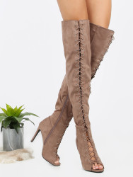 MakeMeChic Women's Thigh-High Stiletto Boots $45