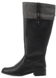 Charlotte Russe Women's Wool Riding Boots for $25