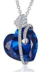 "Caperci 18"" Sapphire Pendant Necklace for $23"