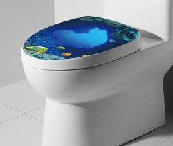 Sea and Fish Removable Toilet Cover for $2