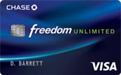 Chase Freedom Unlimited℠ Card Earn a $150 bonus