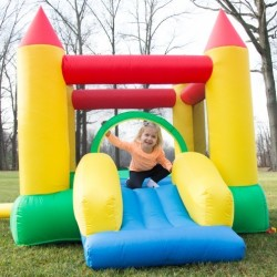 Hey! Play! Inflatable Bouncy Castle w/ Slide $160
