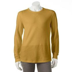 SONOMA Life + Style Men's Long-Sleeve Solid Thermal Crewneck Shirts