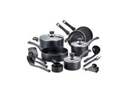 T-Fal Bistro Nonstick 16-Pc. Cookware Set in Black