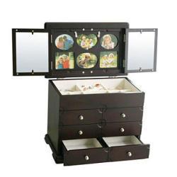 Kathy Ireland Photo Frame Jewelry Box in Black