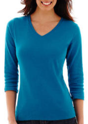 St. John's Bay Women's 3/4-Sleeve Tee