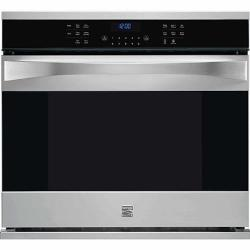 Kenmore Elite 1.5-Cu. Ft. Over-the-Range Convection Microwave & Self-Clean Electric Convection Range