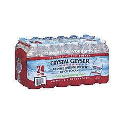 Crystal Geyser Spring Water 24-Pk.