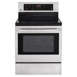 LG LRE3083ST 6.3-Cu. Ft. 5-Element Smooth Surface Self-Cleaning Electric Convection Range