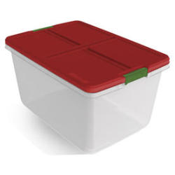Hefty 66-Qt. Latching-Lid Storage Tote + Hefty 15-Qt. Latching-Lid Storage Tote