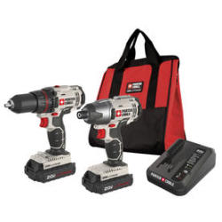 Porter Cable 20V MAX Lithium-Ion Cordless Combo Kit w/ Soft Case