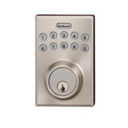 Kwikset Smartcode Satin Nikel Single-Cylinder Motorized Electronic Entry Door Deadbolt w/ Keypad, Select Items