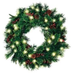 "Hyde Park Cordless LED 30"" Wreath"