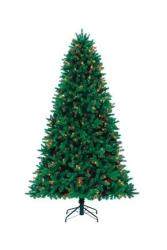 7.5-Ft. Grand Fir Pre-Lit Tree