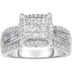 1-TCW Diamond Engagement Ring in 10K White Gold