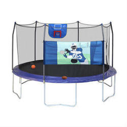 "Skywalker 15"" Trampoline w/ Basketball & Football Games"