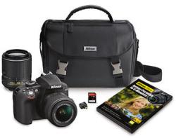 Nikon D3300 24.2MP DSLR Camera Bundle With 2 Lenses, Adapter, Bag & 32GB Card