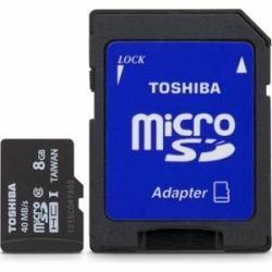 Toshiba 8GB microSDHC Class 10 Memory Card w/ Adapter