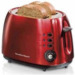 Hamilton Beach 2-Slice Metal Toaster in Apple Red