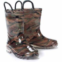 Kid's Light-Up Boots in Camo