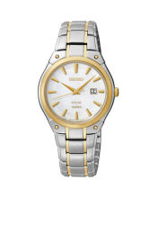 Seiko Women's 100 Meter Two-Tone Solar Dress Watch