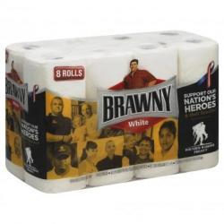 2 Brawny Paper Towels 8-Pk. + 200 Plenti Points