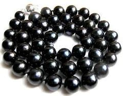 11mm AAA- Black Freshwater Pearl Necklace for $30