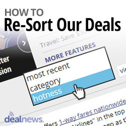 DealTip: Sort Our Deals by Hotness, Category, or Time!