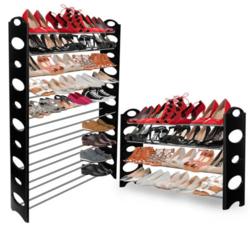 OxGord 50-Pair Shoe Rack