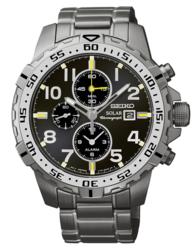 Seiko Men's Core Solar Chronograph Watch for $135