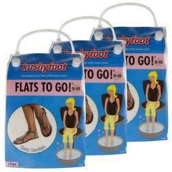 Kushyfoot Women's Flats To Go Sandals 3-Pack