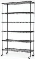 Commercial 6-Shelf Steel Wire Shelving Rack