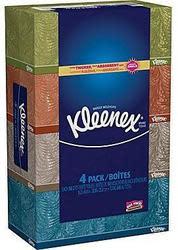 4 Kleenex Facial Tissue Boxes for $4