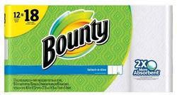 36 Bounty Paper Towel Rolls, $10 Target GC