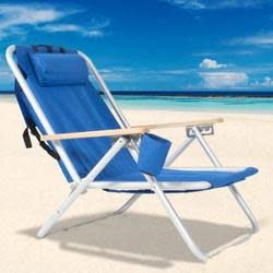 Backpack Folding Beach Chair for $35