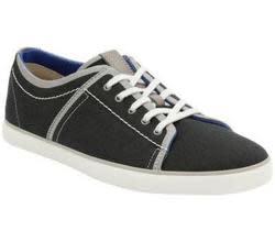 Clarks Men's Rorric Plain Canvas Shoes for $30
