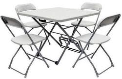 Roll-X Fold and Roll 5pc Table and Chair Set $105