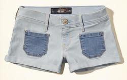 Hollister Girls' Patch Pocket Denim Shorts for $15